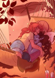 """""""My bubbline piece for Lazy evening nap :') you can check out the whole zine here, its super pretty"""" - original pinner (not me) Cute Lesbian Couples, Lesbian Art, Adventure Time Marceline, Adventure Time Art, Life Is Strange, Princesse Chewing-gum, Bubbline, Marceline And Princess Bubblegum, Land Of Ooo"""