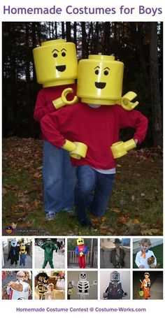Homemade Costumes for Boys - this website has tons of homemade costume ideas!