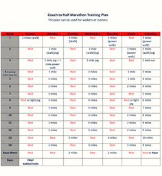 Good Luck With That: Couch to Half Marathon Training Plan I used this plan last year and rocked my first half!