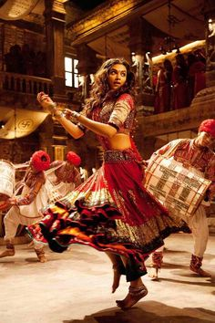 Deepika Padukone in Ram Leela! Bollywood actress Indian fashion Dancing red hair beautiful