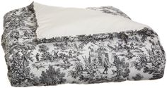 Amazon.com: Victoria Park Toile Bed Comforter King Size, Black: Home &…