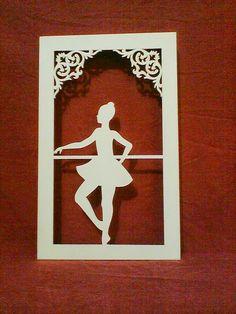 Quadro bailarina em mdf www.ideiasartesanato.com.br