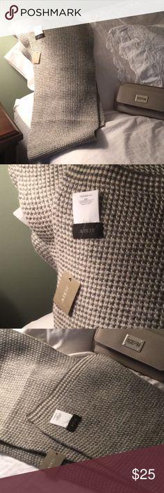"🌟 J Crew long wool scarf 🌟 83"" of pure lamb's wool 🌞 it's 10"" wide. Dark gray and cream herringbone pattern. BNWT! 🌟 J Crew Accessories Scarves & Wraps"