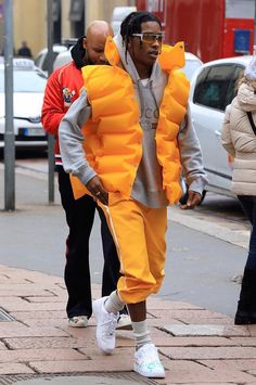 ASAP Rocky Wears Balenciaga Jacket, Gucci Hoodie and Custom Nike Sneakers in Milan | UpscaleHype