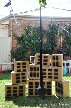Boy's Construction Birthday Party Building Demolition Game Ideas