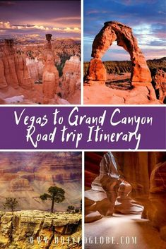 Are you planning to drive through Grand Canyon, Antelope Canyon, Bryce Canyon, and Zion National Parks on the ultimate southwestern road trip? This route through the Grand Circle promises dramatic lan Bryce Canyon, Grand Canyon Arizona, Vegas To Grand Canyon, Grand Canyon Vacation, Arizona Road Trip, Arizona Travel, The Journey, Vacation Ideas, Monument Valley