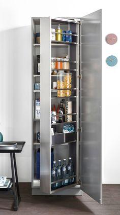 43+ Kitchen Pantry Storage ( CLEVER IDEAS ) Small Large Pantry Design Kitchen Pantry Storage, Kitchen Pantry Design, Kitchen Pantry Cabinets, Modern Kitchen Cabinets, Pantry Room, Kitchen Ideas, Pantry Cupboard, Condo Kitchen, Compact Kitchen