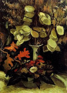 Vase With Honesty Vincent Van Gogh Reproduction | 1st Art Gallery