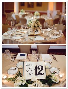 USe books for your table numbers. Community Post: How To Have The Best Literary Wedding Ever