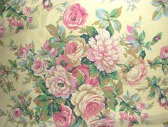 cabbage rose floral drapes - Google Search