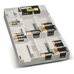Battery Organizer with Tester - Grey