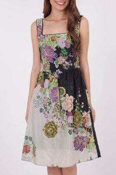 Very Machelle Floral Bomb Print Dress - Womens Knee Length Dresses at Birdsnest