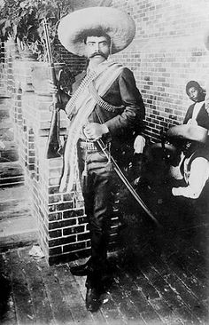 Emiliano Zapata was one of the leading figures in the Mexican Revolution of which was directed against the dictatorship of Porfirio Diaz. Zapata created and commanded the revolutionary force known as the Liberation Army of the South. Pancho Villa, Old Pictures, Old Photos, Vintage Photos, Vintage Photographs, Rage Against The Machine, New Mexico, Mexican Revolution, Revolution Poster