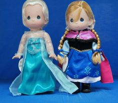 "Frozen Elsa & Anna 12"" Doll Set Precious Moments Disney Parks Signed In Stock #PreciousMoments #VinylDolls"