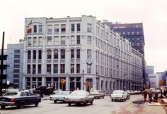 The Houseman Building before its demolition during the summer of 1966. The building was a landmark in downtown Grand Rapids since the first section was built by Julius Houseman in 1881. At its peak, the building housed more than 250 tenants. The building was replaced by the Ellis Parking lot on the southeast corner of Ottawa Ave. and Lyon Street NW. (Courtesy photo | Grand Rapids Public Museum).