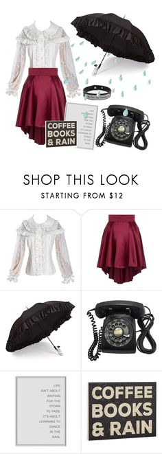 """Rainy days"" by jkepes ❤ liked on Polyvore featuring Vielma London, Gizelle Renee, Pink Box and rainydayoutfit"