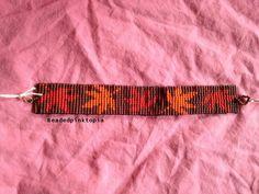 Fall leaves beaded bracelet seed bead bracelet by BeadedPinktopia