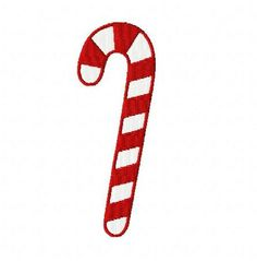 Christmas candy cane machine embroidery design 3 inch instant download by BelsEmbroidery