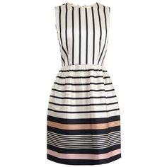 RAOUL Stripe Print Peplum Dress found on Polyvore