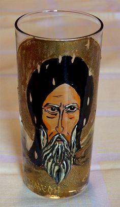 Sv. Simeon (Nemanja) Glass painting Mirjana Selena