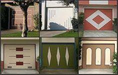 various mid century garage door patterns