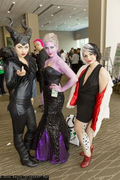 Maleficent, Ursula, and Cruella de Vil #ECCC2015 Seattle PC: #DTJAAAAM