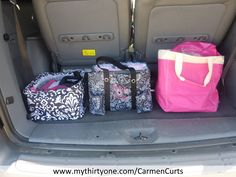 My mobile office - Part 1 - My Thirty-One products keep me organized on the go! http://www.mythirtyone.com/CarmenCurts/