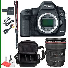 Canon EOS 5D Mark III Body Only with Canon EF 24-105mm f/4L IS USM Lens + Camera Case + Starter Package