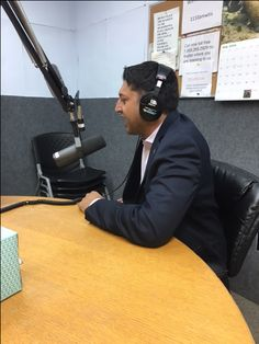 President of Elevate, Inc. Aakash Patel sharing why he thinks #TampaHasSwagger on air with Debra Evans in the Mornings, WTIS 1110 AM radio