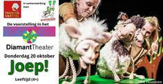 20 Okt - De Betovering:   Joep!  -  (Kinderen 4+)       - DiamantTheater - http://www.wijkmariahoeve.nl/joep-theater-gnaffel/
