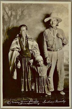 Navajo family in Winslow, Arizona - 1931