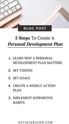Create a personal development plan that actually works so you can live your most productive life.