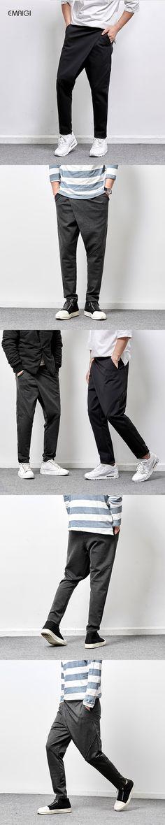 Men's Casual Pants High Quality Men Harem Trousers Male Fashion Hip Hop Punk Style Trousers Jogger Sweatpant M-3XL
