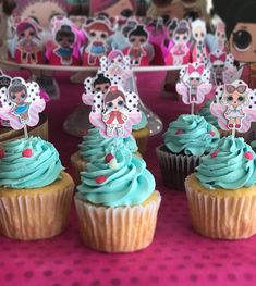 LOL Surprise Dolls Cupcakes