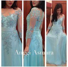 Baby blue dress #kebaya #style #bridesmaid #idea by Anggi
