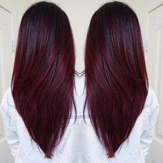 "Mermaid Unicorn Hairstyles  on Instagram: ""Cherry Wine!  Hair by: @tressesbytress  #mermaidians """