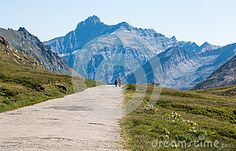 People having a walk in Gran Paradiso national park