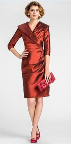 Sheath Column V-neck Knee-length Taffeta Mother of the Bride Dress. Get  unbeatabe discounts up to Off at Light in the box using Mother s Day  Coupons. a368986d2c15