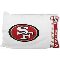 "NFL San Francisco 49ers Micro Fiber Pillow Case Logo by Sports Coverage. Save 55 Off!. $15.99. 100% Polyester. NFL San Francisco 49Ers Micro Fiber Pillow Case Logo. Pillowcase are 92 gsm microfiber and 100% polyester. Wrinkle resistant and stain-resistant, standard 21"" x 30"". The pillowcase has white on white print and the officially licensed team name and logo printed in team colors."
