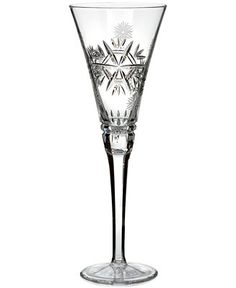 Waterford Flute, Snowflake Wishes for Health Glenmore - Shop All Glassware & Stemware - Dining & Entertaining - Macy's