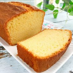 Miki's Food Archives : Old School Butter Cake 古早味牛油蛋糕 3 Egg Cake Recipe, Easy Butter Cake Recipe, Easy Sponge Cake Recipe, Best Pound Cake Recipe, Sponge Cake Recipes, Pound Cake Recipes, Easy Cake Recipes, My Recipes, Baking Recipes