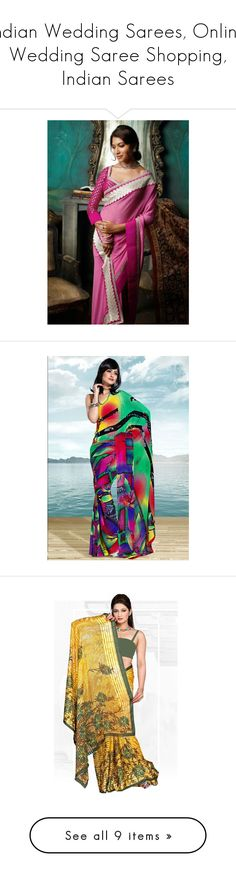 """""""Indian Wedding Sarees, Online Wedding Saree Shopping, Indian Sarees"""" by ethnicbazaar ❤ liked on Polyvore featuring accessories, eyewear and sunglasses"""