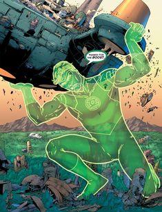 Green Lantern Hal Jordan, Blue Lantern, Green Lanterns, Comic Book Superheroes, Comic Books Art, Comic Art, Green Lantern Comics, Batman Beyond, Dc Comics Art