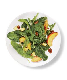 Arugula, Peach, and Cheddar Salad | Which of these fast, fresh, leafy side dishes will you want to make for dinner tonight? It's a toss-up.