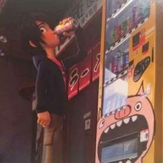 """(( anyone wanna be Hiro? Since he hasn't been on lately.)) I walk in and see Hiro chugging a soda while Cass is turned away. """"Hiro?"""" He almost chokes on the soda and tells me to be quiet. Jeez, he can be weird sometimes, but I love him anyway."""