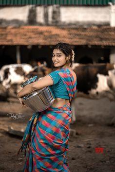 Actress Dharsha Gupta Latest Stills Looking Like A Village Belle - Social News XYZ