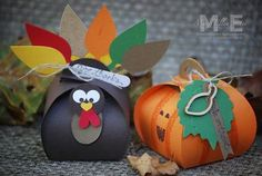 Turkey and Pumpkin ideas using Curvy Keepsake Thinlit by Stampin' Up! find it at www.CreateWithME.com