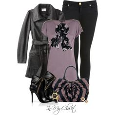 Purple, Black and Grey by in-my-closet on Polyvore featuring Warehouse, Converse, Miss Selfridge, Giuseppe Zanotti, Lulu Guinness, Pandora, Tory Burch and Simply Vera
