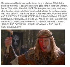 Supernatural vs Beliebers>> you asked for this. We were happy to giggle at you from afar.