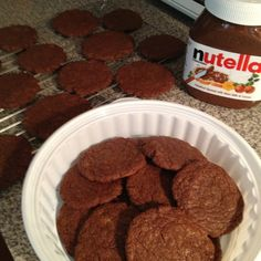 Nutella cookies! recipe from pinterest  = success